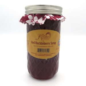 Red Huckleberry Syrup - Front